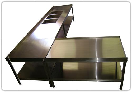 Mese inox produse de Cominox, producator accesorii inox de calitate