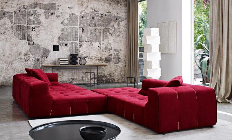 cele mai bune combinatii pentru canapelele rosii